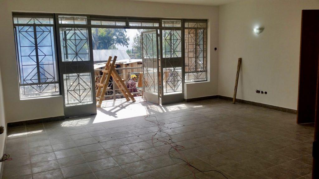 Staff housing unit - living room